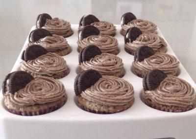 Minicupcakes de Oreo